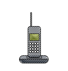 Cordless phone technology call vector