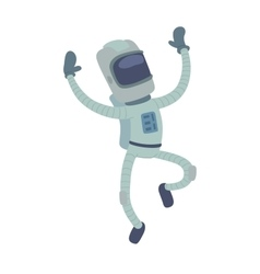 Cute astronaut in space working and having fun vector
