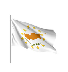 cyprus national flag with a circle of eu vector image vector image