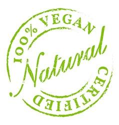 Green 100 Vegan All Natural Icon Sticker Badge vector image