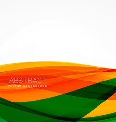 green orange wave background design vector image vector image