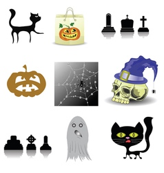 halloween decoration set vector image