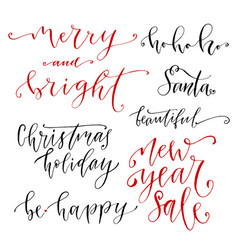hand drawn lettering new year modern calligraphy vector image