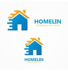 house in motion logo or icon vector image vector image