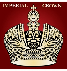 imperial crown vector image vector image