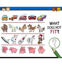 Improper picture task for kids vector