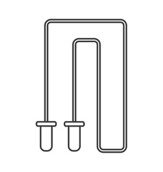 Jump rope icon vector
