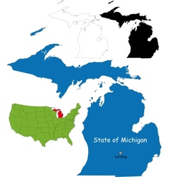 Michigan map vector image