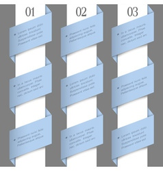 Modern paper numbered banners vector image vector image