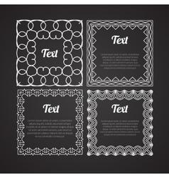 Ornamental frames set design Retro template vector image