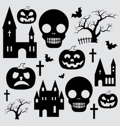 Pumpkin halloween set vector