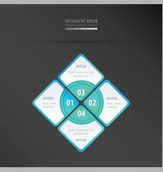 Rectangle presentation neon blue vector