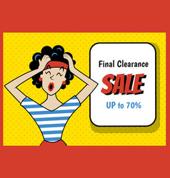 retro sale new vector image