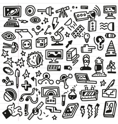 science - doodles set vector image vector image