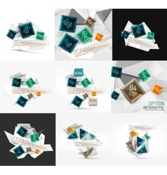 Set of fresh business abstract infographic vector image
