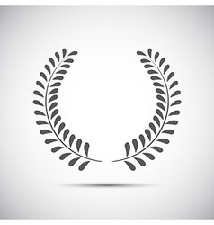 Simple laurel wreath icon twig with leaves vector