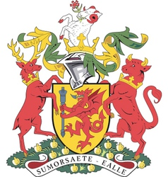 Somerset county coat-of-arms vector