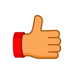 Thumbs Up Icon Flat Style vector image vector image