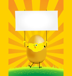 Tiny easter chicken vector