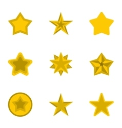 Types of stars icons set flat style vector image vector image