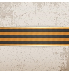 Victory day symbol - st george striped ribbon vector