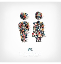 Wc people sign vector