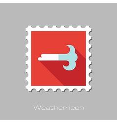 Wind flat stamp meteorology weather vector