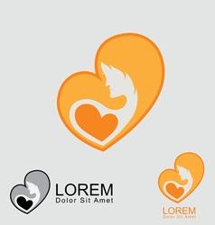 Women pregnant logo vector