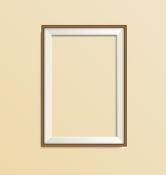 wooden frame isolated on beige vector image