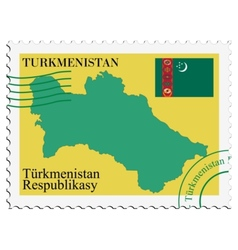 Mail to-from turkmenistan vector