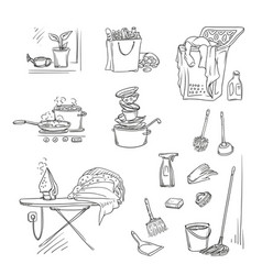 set sketch on a white vector image