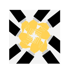 Teamwork clapping hands logo vector image