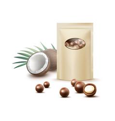 Chocolate coconut candies vector