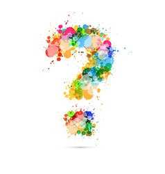 Abstract question mark colorful symbol vector