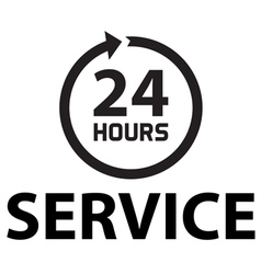 24 hours service vector