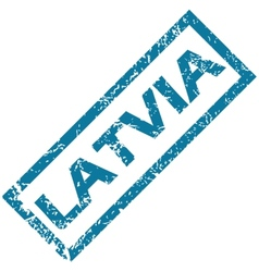 Latvia rubber stamp vector