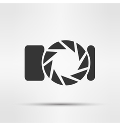 Photo camera isolated vector