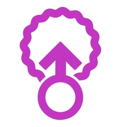 Ovum penetration icon vector