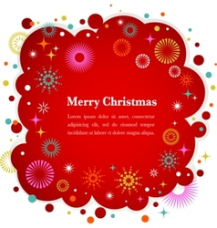Christmas background with cute icons and elements vector