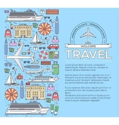 Tourism circle concept design holiday vacation vector