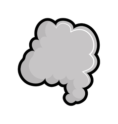 Smoke icon fog design graphic vector