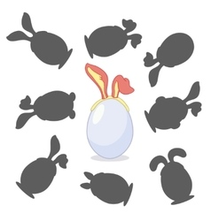 Easter egg with ears vector