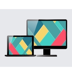 Laptop monitor set vector