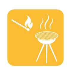 The barbecue icon flat vector