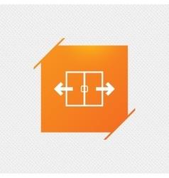 Automatic door sign icon auto open symbol vector
