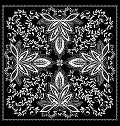 Black and white abstract bandana print vector