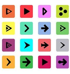 Black arrow sign template button symbol vector