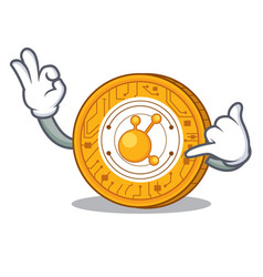 Call me bitconnect coin character cartoon vector