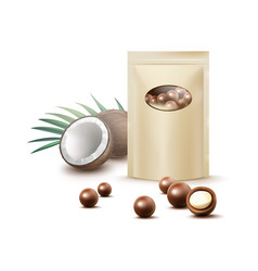 chocolate coconut candies vector image