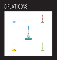 Flat icon cleaner set of cleaning cleaner vector